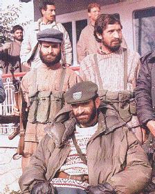 Terrorist leader with bodyguards.